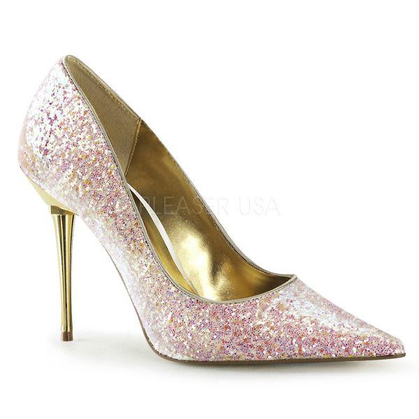Stiletto Pumps mit Metallabsatz in rosa Glitter APPEAL-20G